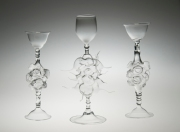 Madeline Rile Smith, 2012Meteor Goblets Flameworked glass