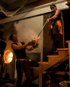 Erica Rosenfeld and Jes Julius perform / The Burnt Asphalt Family