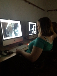 Susie Sewell working on scanning project